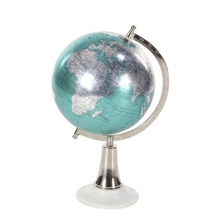 Studio 350 Metal PVC Marble Globe 8 inches wide, 15 inches high