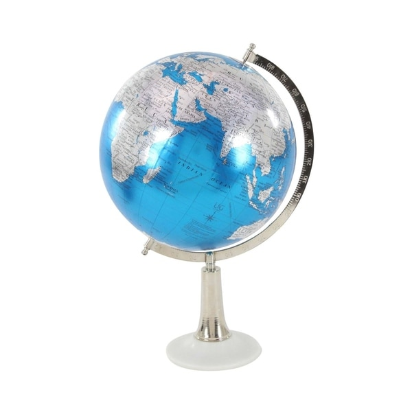 Studio 350 Metal Marble PVC Globe 13 inches wide, 20 inches high