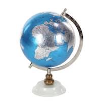 Clay Alder Home Hernando Blue Metal PVC Wood Marble Globe
