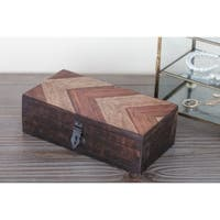 Studio 350 Wood Parque Box Set of 3, 8 inches, 10 inches, 12 inches wide