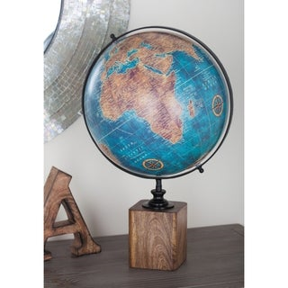 Studio 350 Wood PVC Globe 14 inches wide, 20 inches high