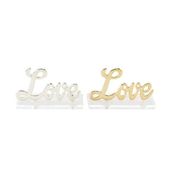 Porch & Den Havana Aluminum Acrylic Love (Set of 2)