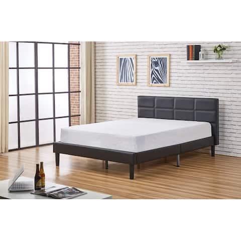 Belle Modern Faux Leather Queen Size Platform Bed