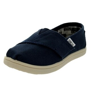 Toms Toddlers Tiny Classics Navy Canvas Casual Shoe
