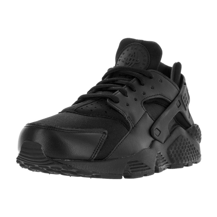 Nike Women's Air Huarache Run Running Shoe (7.5), Black (...