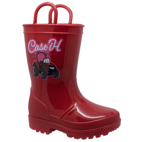 Toddler's PVC Boot with Light-Up Outsole Red