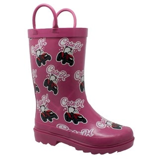 "Toddler's ""Li'l Pink"" Rubber Boot Pink"