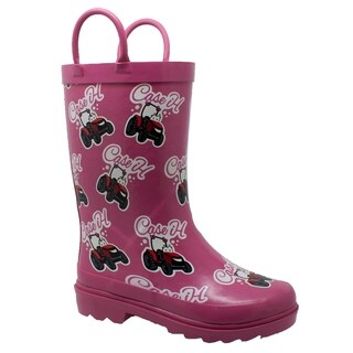 "Toddler's ""Li'l Pink"" Rubber Boot Pink (5 options available)"