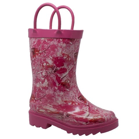 Case IH Childrens Camo Rubber Boot Pink
