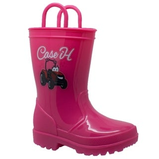 Children's PVC Boot with Light-Up Outsole Pink