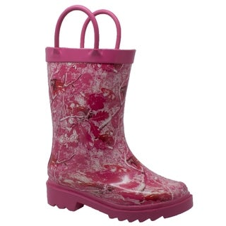 Toddler's Camo Rubber Boot Pink