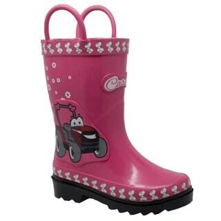 """Children's 3D """"Fern Farmall"""" Rubber Boot Pink"""