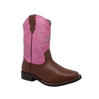 "Children's 8"" Western Pull On Pink"