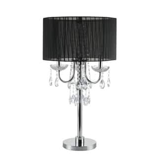 Black candelabra table lamps for less overstock q max crystal inspired touch 295 h table lamp aloadofball Choice Image