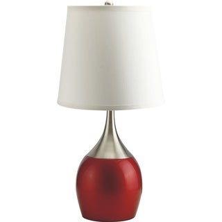 "Q-Max Touch-on 24"" Table Lamp, Red"