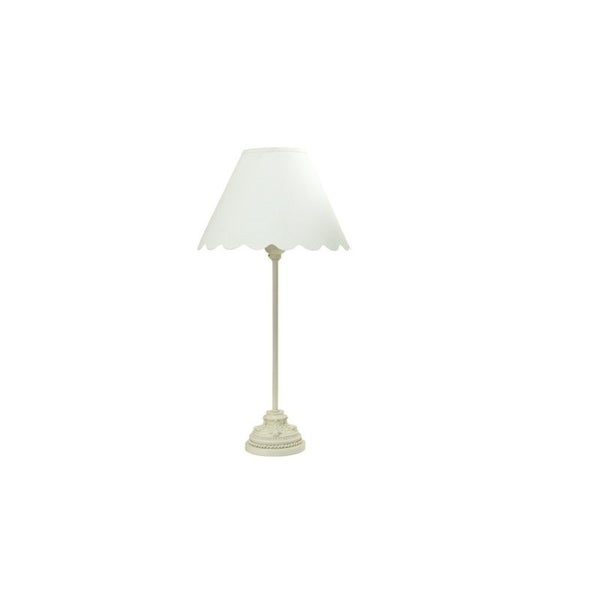 "Q-Max 18.5"" Table Lamp, Ivory"