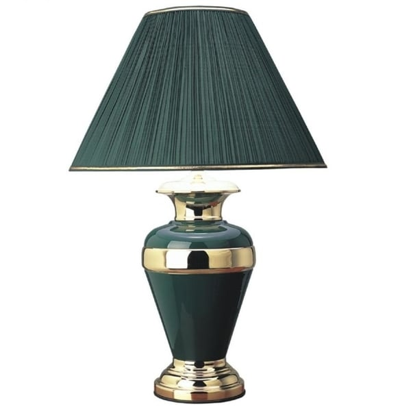 "Q-Max 32"" H Table Lamp, Green"