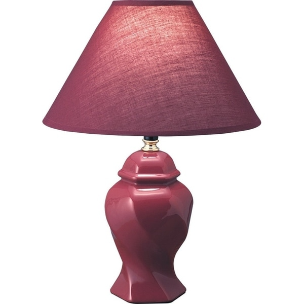 "Q-Max 15"" Table Lamp, Burgundy"