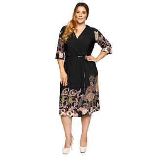 Xehar Womens Plus Size Casual Floral Print Surplice Waist Tie Dress https://ak1.ostkcdn.com/images/products/17619388/P23835248.jpg?impolicy=medium