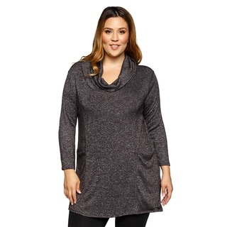 Xehar Womens Plus Size Casual Cowl Neck Loose Tunic Blouse Top