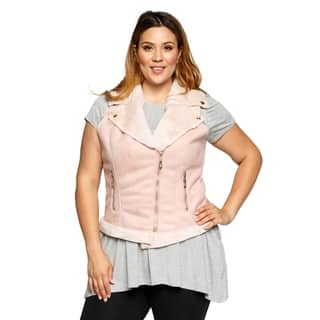 Xehar Womens Plus Size Sleeveless Faux Fur Fashion Jacket Vest|https://ak1.ostkcdn.com/images/products/17619600/P23835461.jpg?impolicy=medium