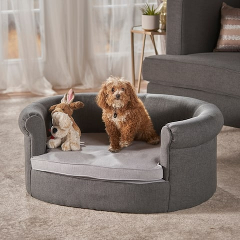 Chelsei Oval Fabric Dog Bed by Christopher Knight Home