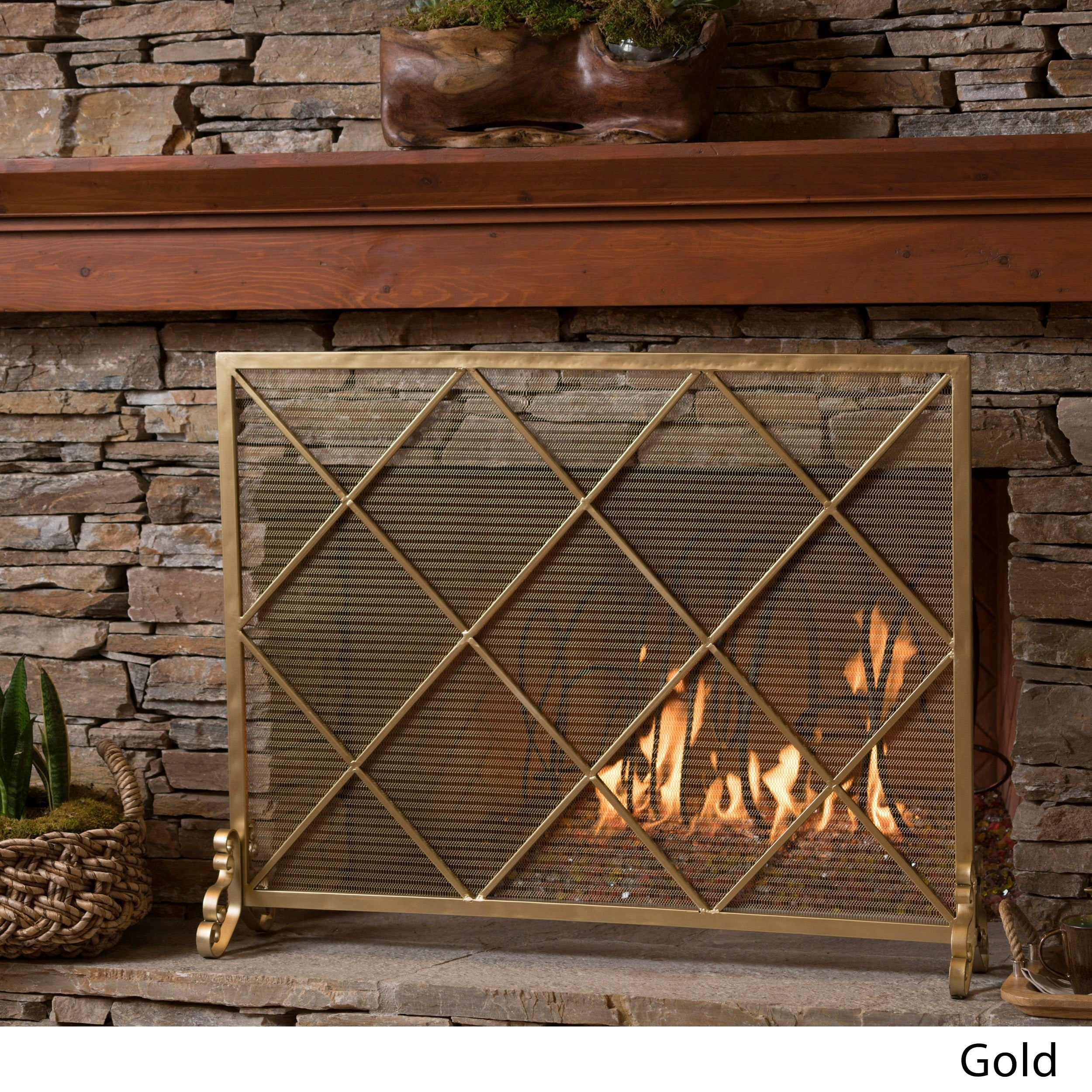 Howell Single Panel Fireplace Screen By Christopher Knight Home On Sale Overstock 17619621