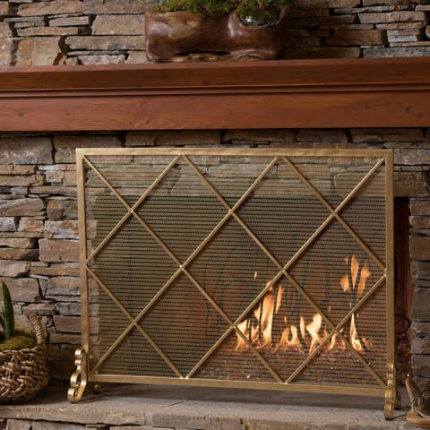 Howell Single Panel Iron Fireplace Screen by Christopher Knight Home