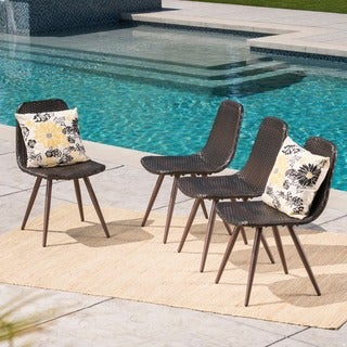 Gila Outdoor Wicker Dining Chair (Set of 4) by Christopher Knight Home