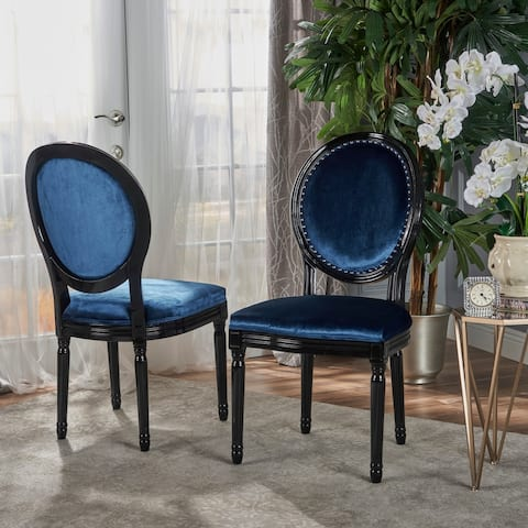 Leroy Traditional Velvet Dining Chair (Set of 2) by Christopher Knight Home