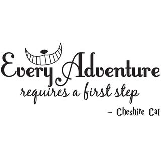 Every Adventure Requires a First Step Cheshire Cat Wall Vinyl