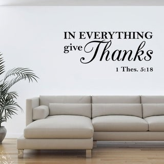 In Everything I Give Thanks Wall Vinyl