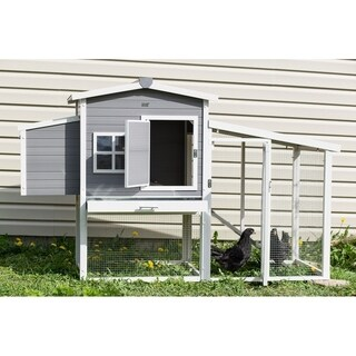 ecoFLEX Hampton Chicken Barn and Pen in Grey