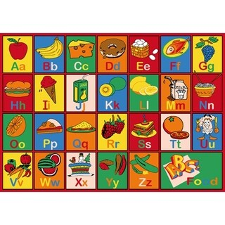 Sintechno SA-FOOD57 Polypropylene Kids' ABC Food Area Rug