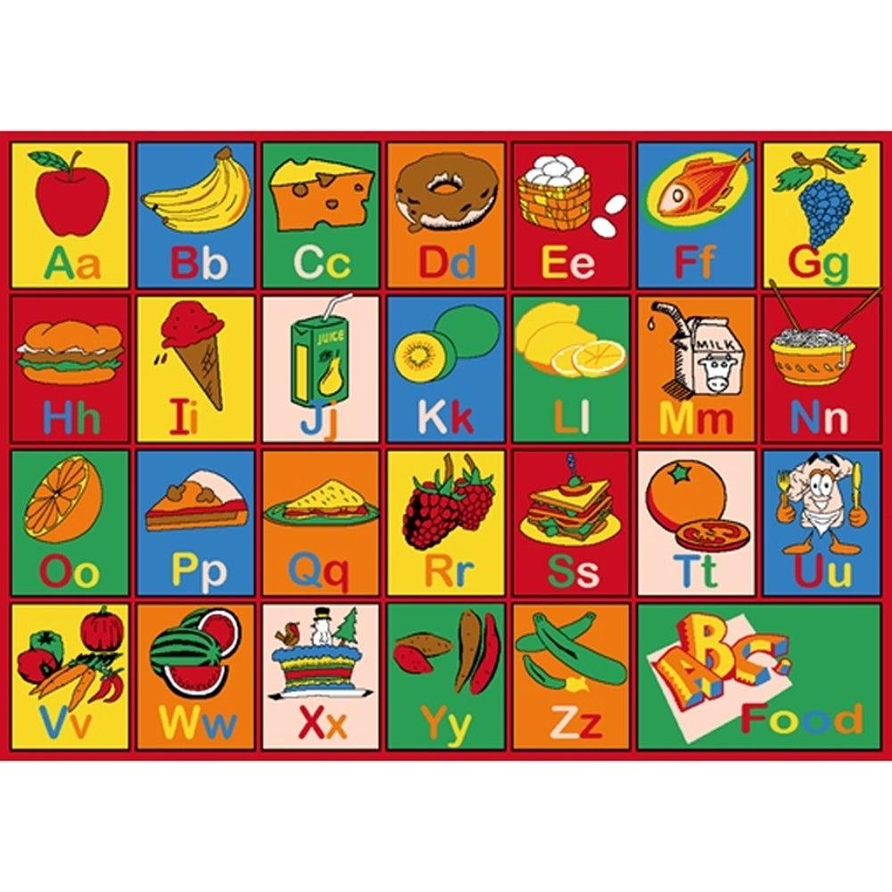Kids Abc Food Children Area Rug