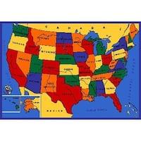 SINTECHNO SA-USA57 Kids USA Map Children Area Rug