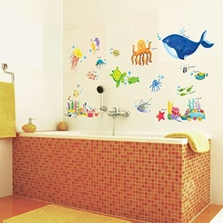 Under the Sea Peel and Stick Nursery Kids Wall Vinyl Decals Stickers