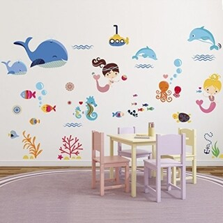 Under the Sea Whale Decals Wall Vinyl