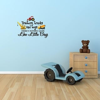 Tractors, Trucks, and Toys Wall Vinyl