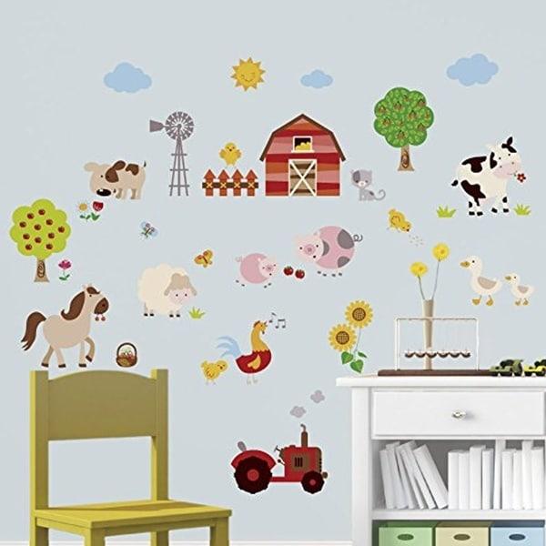 Shop Farm Friends Baby/Nursery Peel & Stick Wall Art Sticker Decal ...