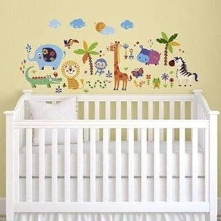 Crazy Jungle Animals Baby/Nursery Wall Sticker Decals Wall Vinyl