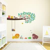 Large Branch & Owls Peel and Stick Nursery Kids Wall Decals Stickers Wall Vinyl