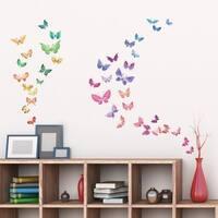 Watercolour Butterflies Peel and Stick Nursery Kids Wall Decals Stickers Wall Vinyl