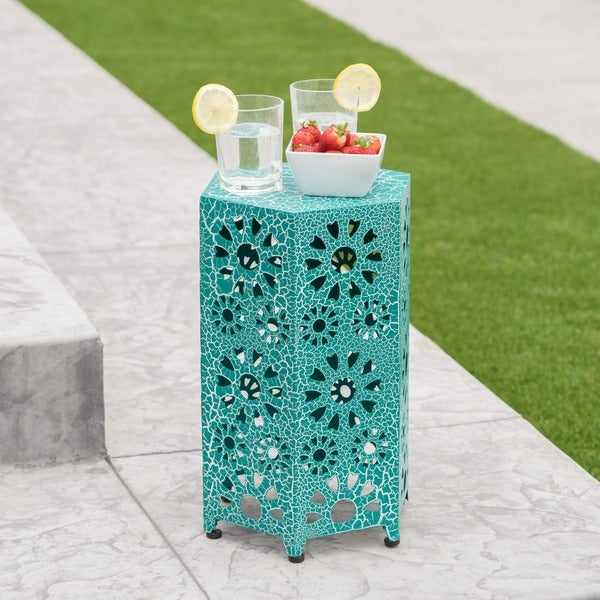 Eliana Outdoor 12-inch Side Table by Christopher Knight Home. Opens flyout.