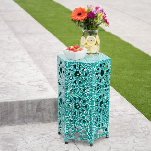 Eliana Outdoor 14-inch Side Table by Christopher Knight Home