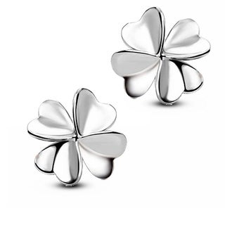 Orchid Jewelry Silver Overlay Flower Stud Earrings