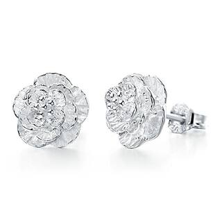 Orchid Jewelry Silver Overlay Textured Flower Stud Earrings https://ak1.ostkcdn.com/images/products/17620882/P23836570.jpg?impolicy=medium