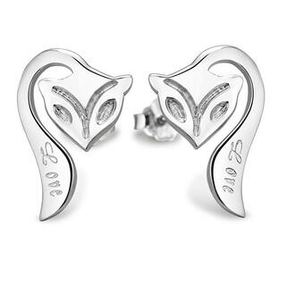 Orchid Jewelry Silver Overlay Creature Fox Stud Earrings https://ak1.ostkcdn.com/images/products/17620885/P23836544.jpg?impolicy=medium