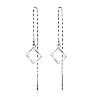 Orchid Jewelry Silver Overlay Geometric Dangle Earrings