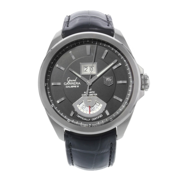 dab0f0b5ab5 Shop TAG Heuer Grand Carrera Stainless Steel Automatic Men's Watch ...